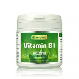 Greenfood Vitamin B1, 250mg, hochdosiert, 120 Kapseln - 1