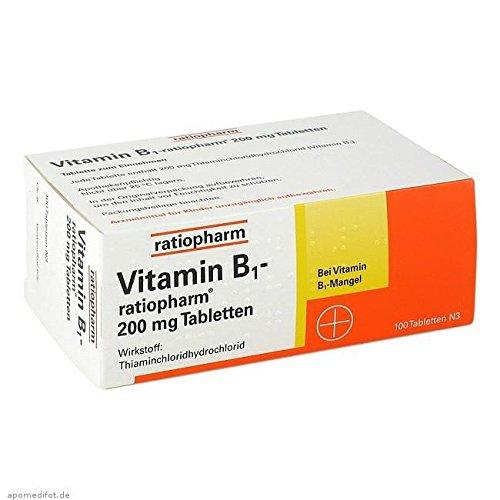 vitamin b1 ratiopharm 200 mg tabletten 100 st 1. Black Bedroom Furniture Sets. Home Design Ideas