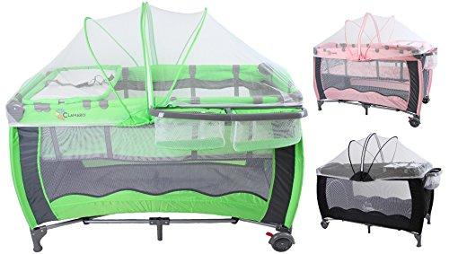 clamaro 39 dream traveler 39 120x60 kinder reisebett h henverstellbar mit einhang faltmatratze. Black Bedroom Furniture Sets. Home Design Ideas