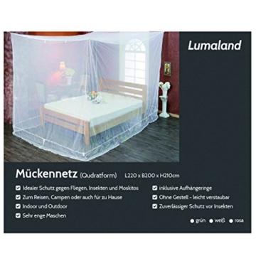 Lumaland Moskitonetz kastenförmig 220x200x210cm Indoor Outdoor Verschiedene Farben Weiss -